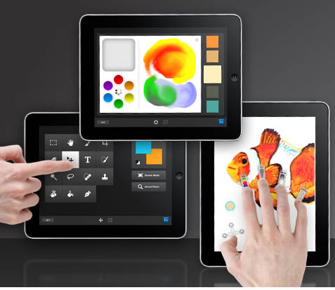 Large screenshot for Adobe Color Lava, Adobe Eazel - Photoshop CS5 Apps for iPad