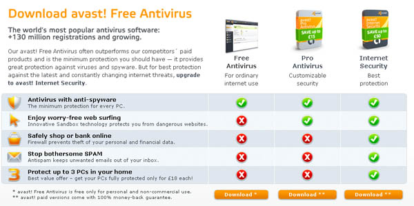 Large screenshot for Avast 5 - Free Antivirus