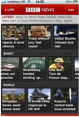 Large screenshot for BBC News App for iPhone