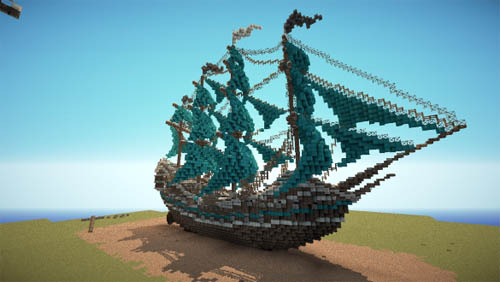 Large screenshot for Collection of Pirate Ships and Galleons - Minecraft World