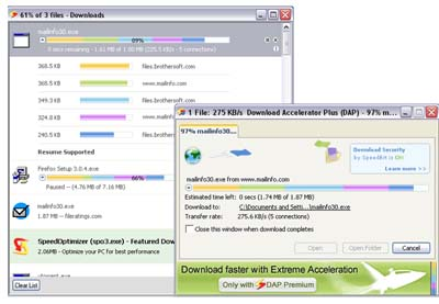 Large screenshot for Download Accelerator Plus 9