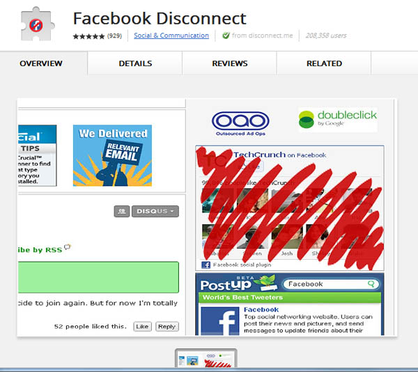 Large screenshot for Facebook Disconnect Chrome Extension - Facebook Privacy Protection