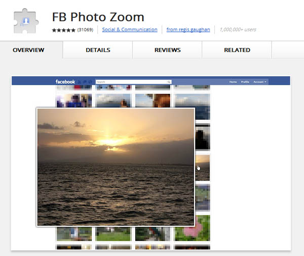 Large screenshot for Facebook Photo Zoom