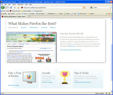 Large screenshot for Firefox 3.6