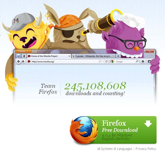 Large screenshot for Firefox 5