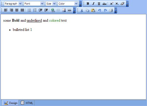 Large screenshot for FreeTextBox – ASP.Net Html Editor Control
