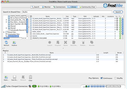 Large screenshot for Frostwire 4 - Torrent Downloader