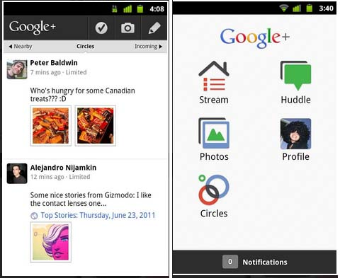 Large screenshot for Google+ App for Android