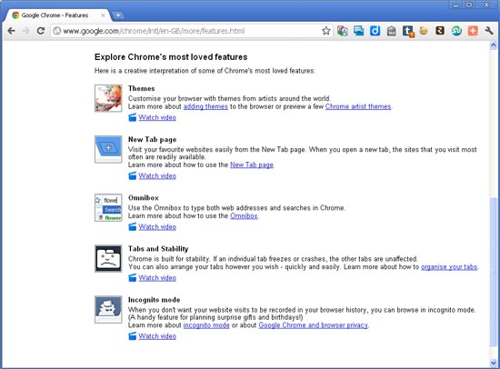 Large screenshot for Google Chrome 13
