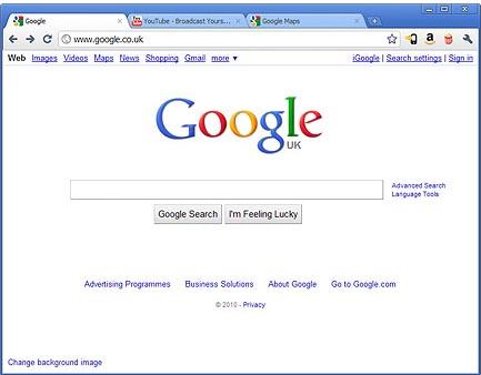 Large screenshot for Google Chrome 6