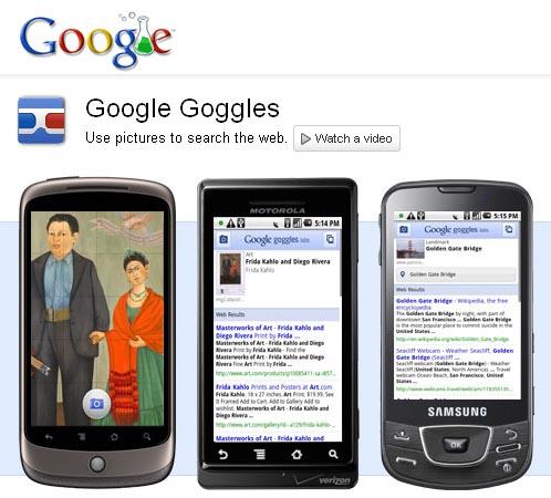 Large screenshot for Google Goggles