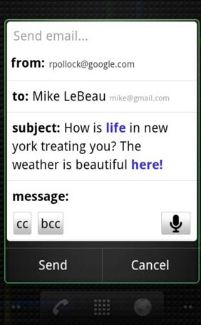 Large screenshot for Google Voice Actions App for Android