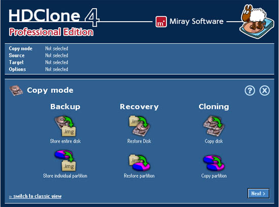 Large screenshot for HDClone 4 - Clone Operating Systems