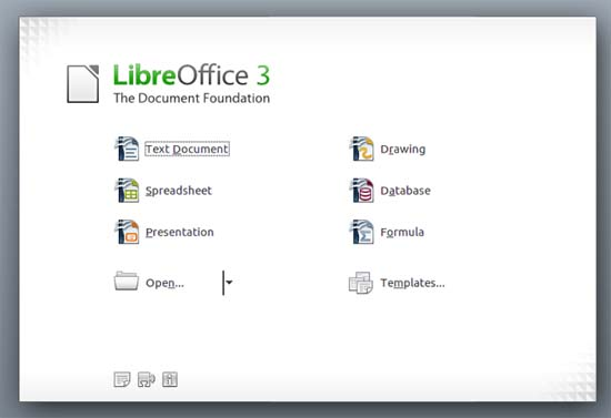 Large screenshot for LibreOffice 3.3