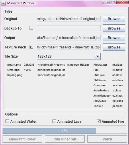 Download ' MCPatcher - Minecraft Texture Pack Installer'