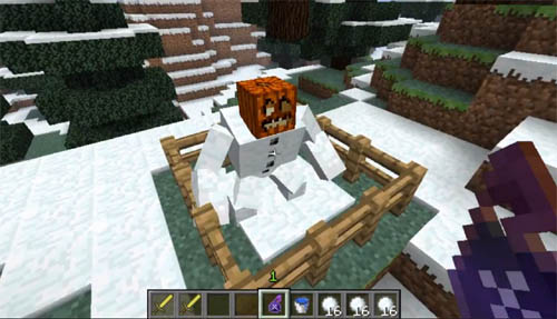 Large screenshot for Minecraft Mutant Snow Golems Mod