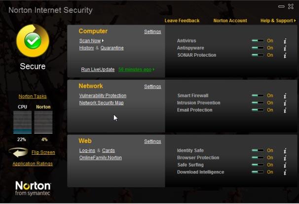 Large screenshot for Norton 360 Netbook Edition 4