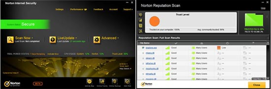 Large screenshot for Norton Internet Security 2012