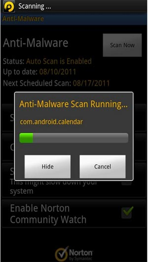 Large screenshot for Norton Mobile Security Lite for Android