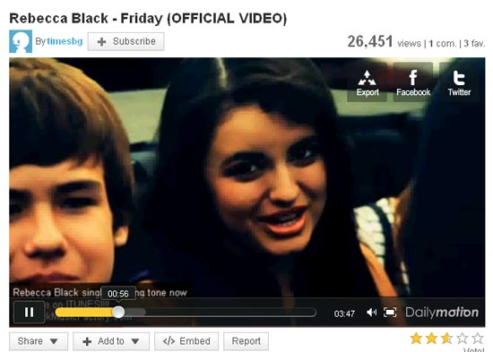 Large screenshot for Rebecca Black Friday - Watch the Missing Video