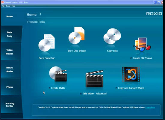 Large screenshot for Roxio Creator 2011 PRO