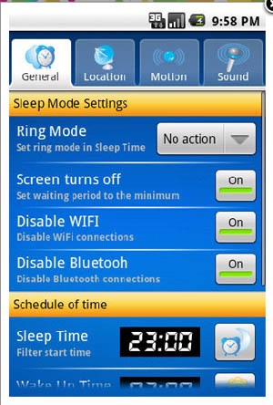 Large screenshot for SweetDreams Android App for Nexus One