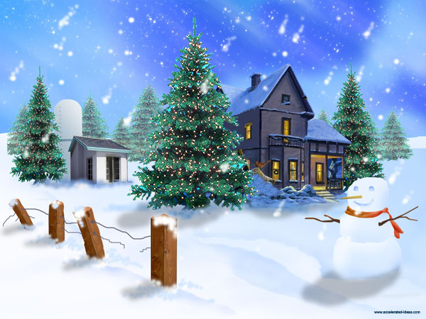 Large screenshot for Twitter Christmas Background Wallpaper 2010