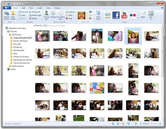 Large screenshot for Windows Live Essentials