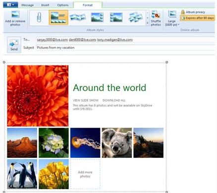 Large screenshot for Windows Live Mail 2011 (v15.4)