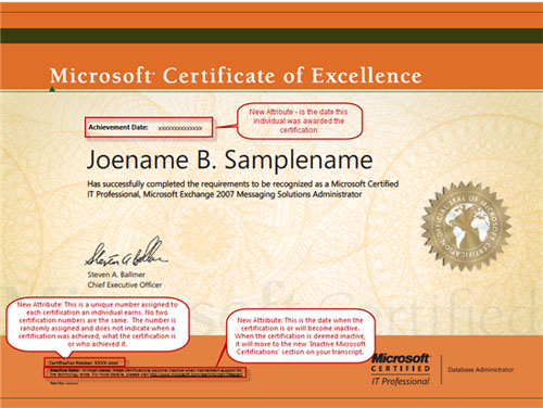 new microsoft certification transcripts and certificates microsoft