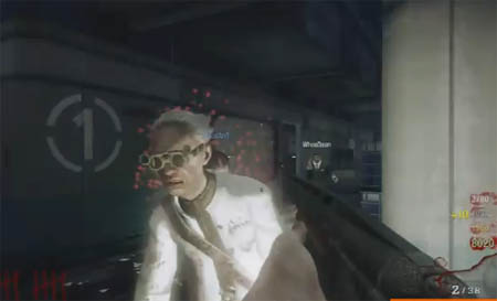 Black Ops Zombie Scientist on Five map. The zombie scientist (or Pentagon