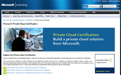 New Private Cloud Certification from Microsoft