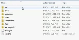 minecraft bin folder download