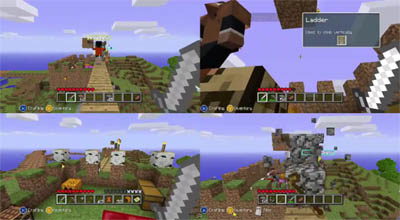 Minecraft Xbox - Split Screen