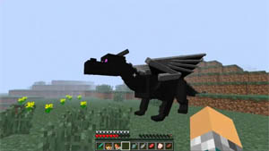 Fly An Ender Dragon With Dragon Mounts Mod For Minecraft