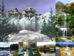 Este Custom Screensaver apresenta belas cenas natureza. Consiste em ...